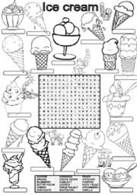 printable ice cream word games english worksheet wordsearch ice cream flavors