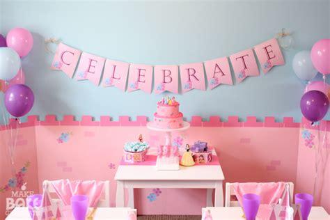 birthday decorations at home photos disney princess birthday luncheon