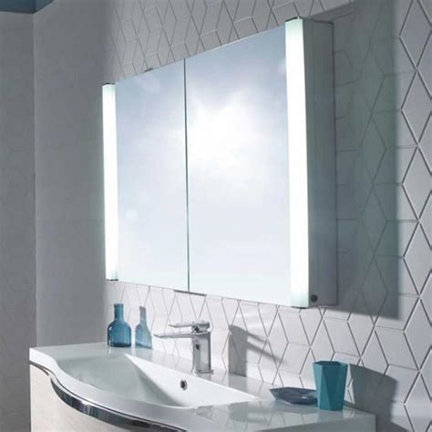 recessible bathroom cabinet roper rhodes perception illuminated recessible mirror
