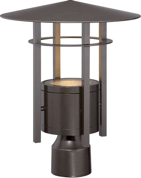 Modern Outdoor Post Light Designers Led34036 Bnb Englewood Modern Burnished Bronze Led Exterior L Post Light