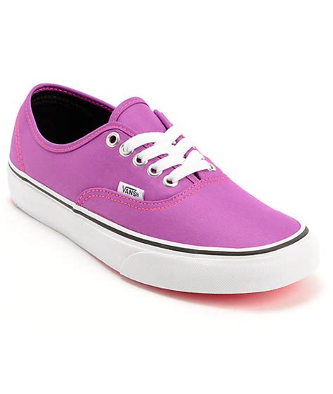 vans authentic neon purple white shoes womens at