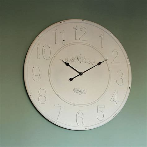 extra large wall clock extra large wooden ivory wall clock living room french