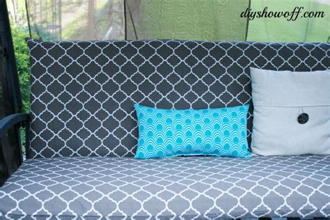 swing cushion covers patio swing makeoverdiy show off diy decorating and
