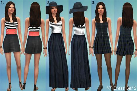 Sims 4 Custom Content Dresses | clothing outfits for females sims 4 custom content