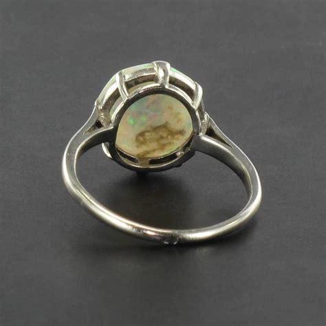 deco rings australia deco australian opal platinum ring for sale at 1stdibs