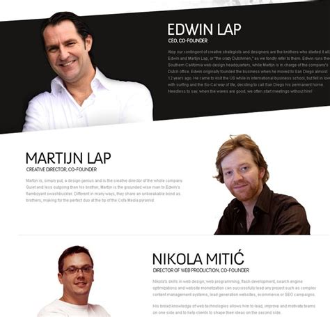 Website Biography Ideas | 2 team bio design at cofamedia ideas for bios