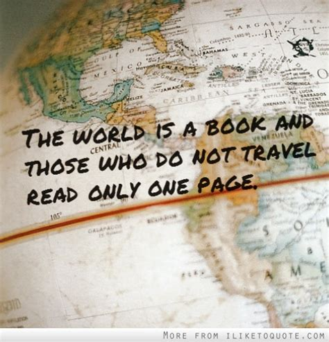 read one the world is a book and those who do not travel read only