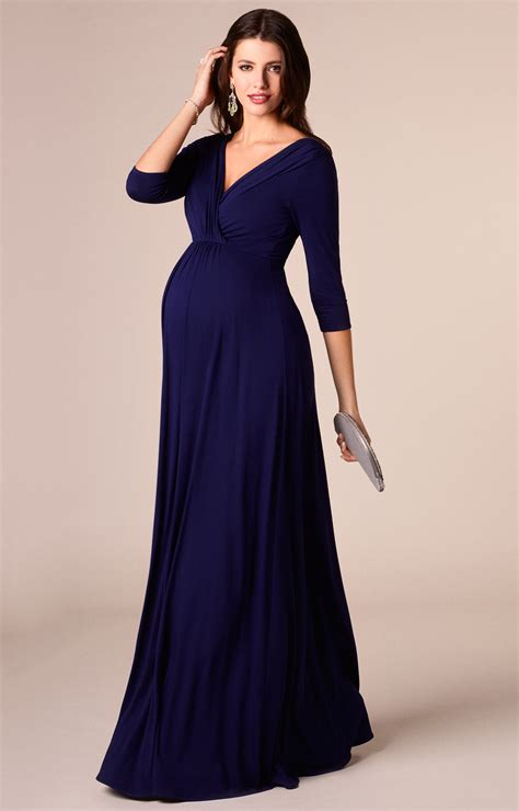 maternity party dress long willow maternity gown long eclipse blue maternity