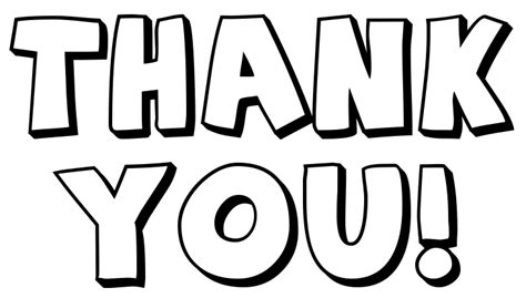 thank you note big outline signs symbol words thank you