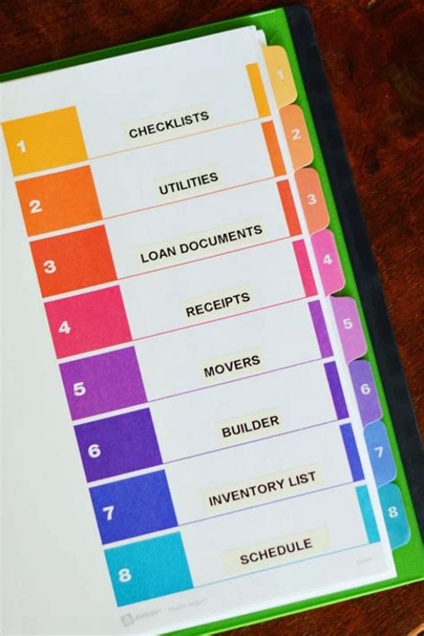 Wedding Planning Binder Sections by How To Organize Your Move Hgtv