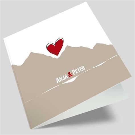 Hochzeitseinladung Berge by Hochzeitskarten Berge Gipfel Bergfex