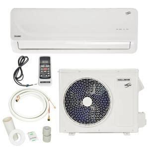 Small Air Conditioners At Home Depot Hallman 9 000 Btu 3 4 Ton Ductless Mini Split Air