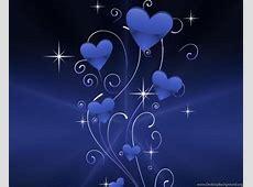 Blue Hearts Sparkles Wallpapers ( Desktop Background Blue Heart Background Wallpaper