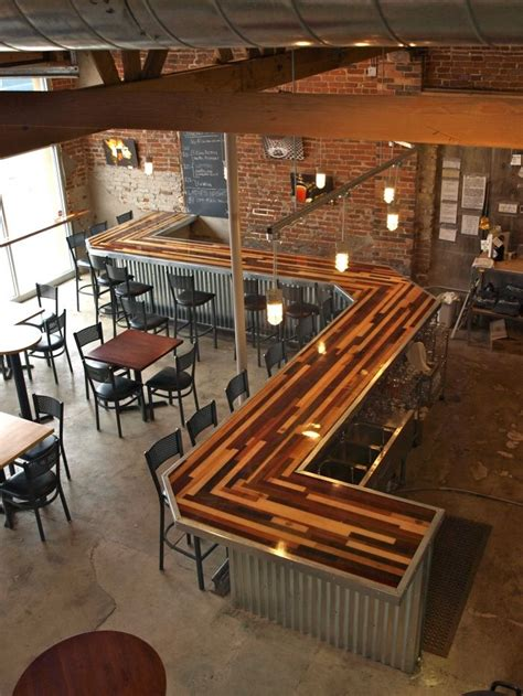 wood pattern grab bar renegade brewery denver co inspiring spaces and decor