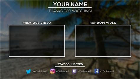 Free 2016 Video Outro Template Tristan Nelson Sellfy Com Outros Templates