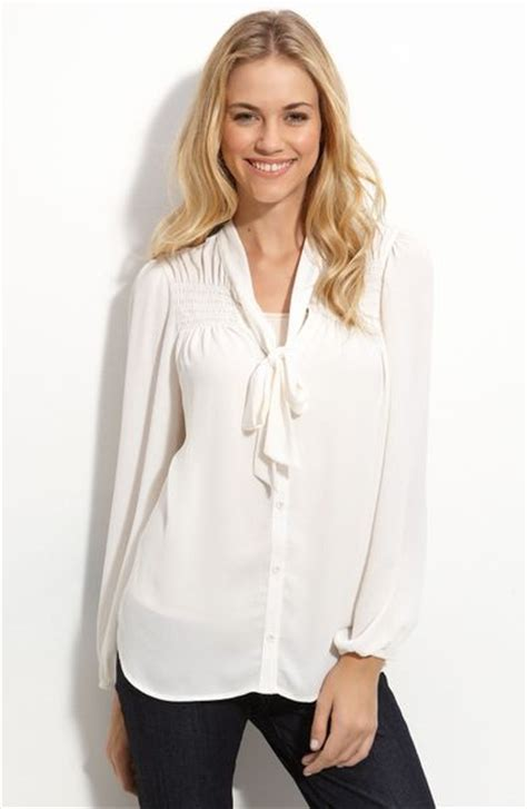 White Tie Front Blouse by Bellatrix Tie Front Blouse In White Ivory Lyst