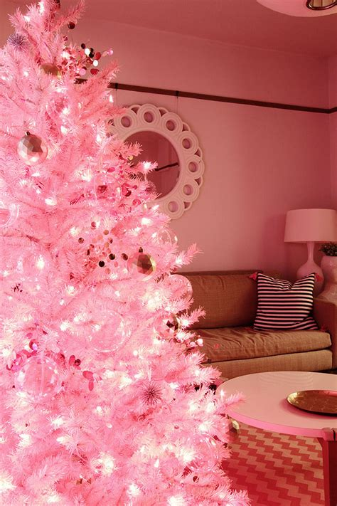 pink christmas tree pictures photos and images for