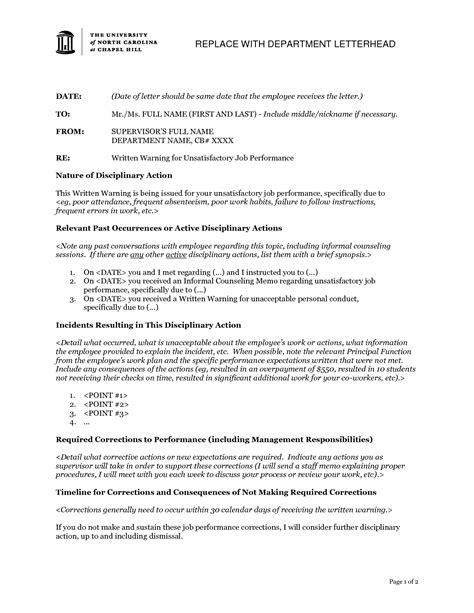 letter for poor performance poor performance dismissal letter