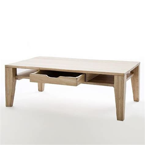 Coffee Set Vicenza vicenza wooden coffee table in bianco oak with 1 drawer