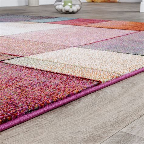 teppich preis teppich karo multicolour bunt kurzflor designer model top