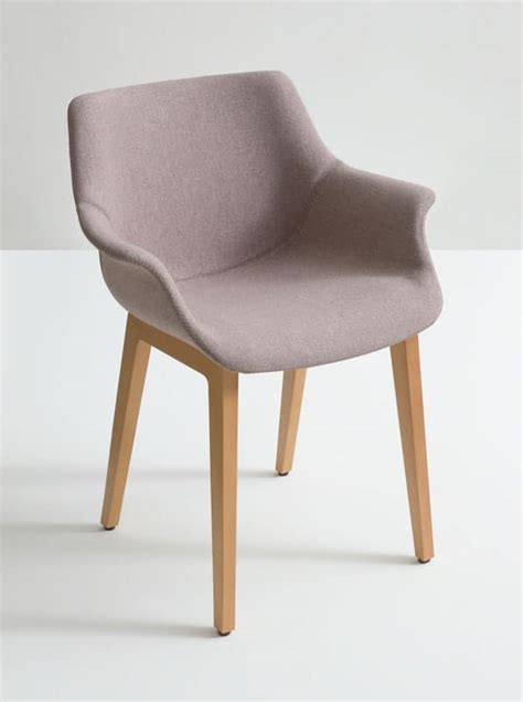 More Chairs armchair with wooden base essential style idfdesign