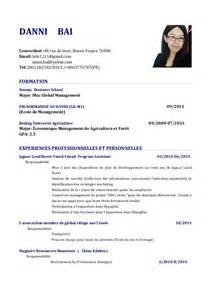 Resume Template Examples by Cv Of Baidanni Au Fran 231 Ais