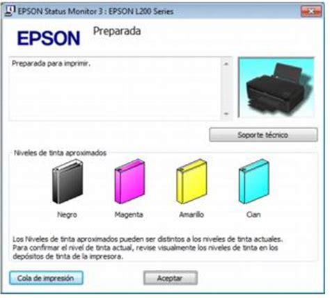 reset epson l200 nivel de tinta epson latinoam 233 rica