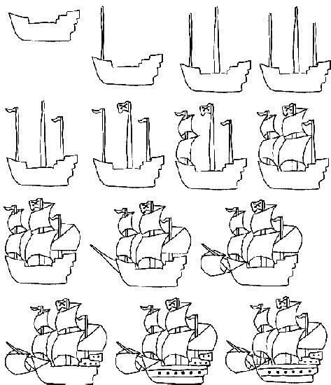 dessiner un bateau pirate dessiner un bateau de pirates en 14 233 tapes les sept mers