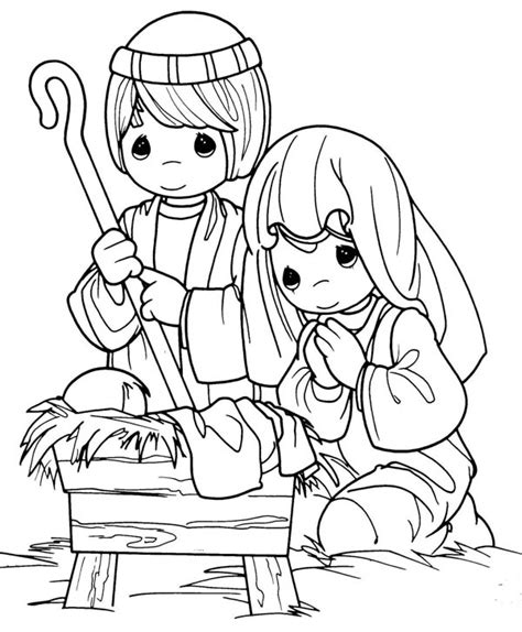 coloring pages of jesus mary and joseph joseph and mary in jesus christ nativity coloring page