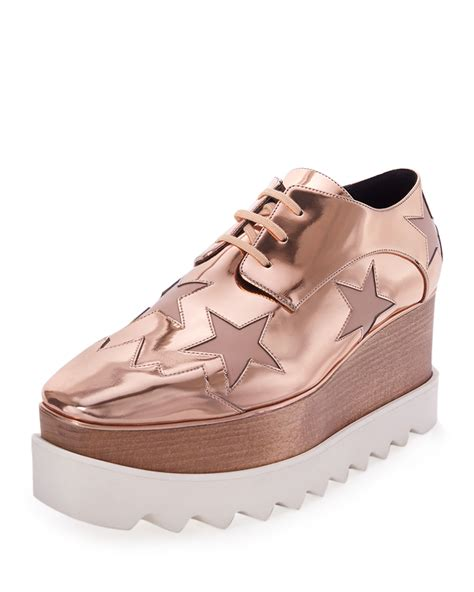 Faux Leather Platform Shoes stella mccartney elyse faux leather platform oxford shoes