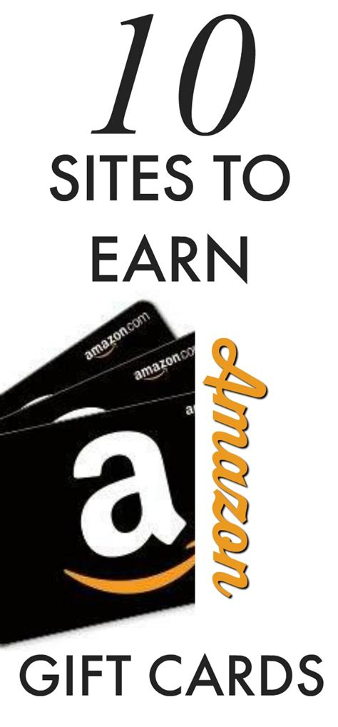 Earn A Amazon Gift Card - 10 sites you can earn amazon gift cards for free