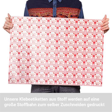 Klebeetiketten Selbst Gestalten by Klebeetiketten Bedrucken Lassen Stoff Etiketten
