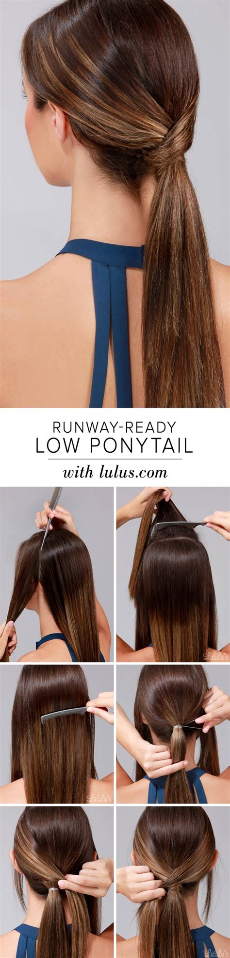 easy indian hairstyles to make on our own lulu s how to runway ready low ponytail lulus com