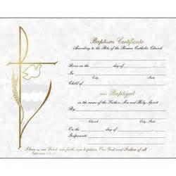 Godparent Certification Letter Baptism Certificate Holy Card Amp Godparents Folder St