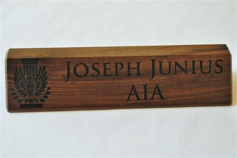 Wooden Engraved Desk Name Plates by Personalized Wooden Desk Name Plates 10 Inch By