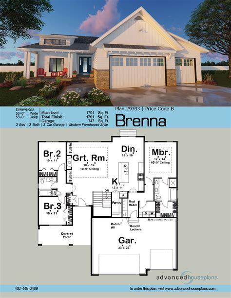 home design planner book 1 story modern cottage ranch plan brenna