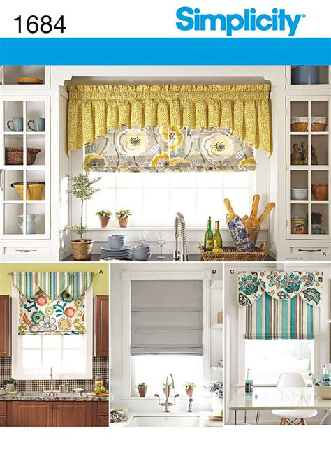 roman curtain patterns simplicity 1684 roman shades and valances