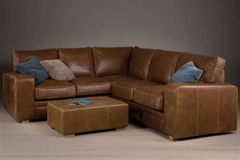 30 best collection of small brown leather corner sofas