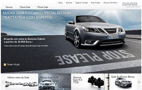 saab news nuovo sito web per saab italia