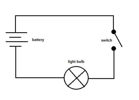 simple electric circuit diagram for images