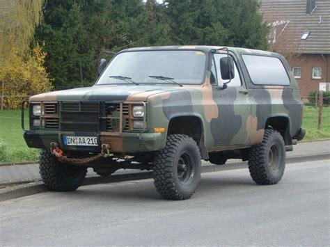 chevrolet blazer diesel chevrolet blazer blazer m1009 ex army 6 2 l v8 diesel bj