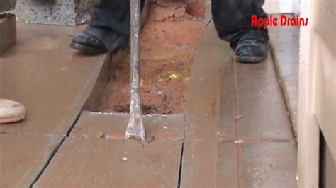 driveway drain channel drain concrete cut and removal