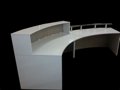 White Curved Reception Desk Ref 0603 Designer S Curved Reception Desk In White High Gloss Range 3 Receptions Magikitchens
