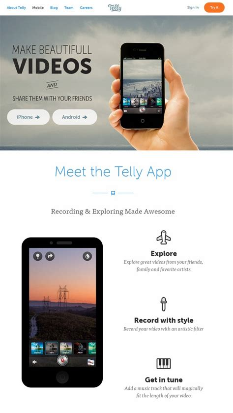 iphone web layout 15 iphone app web design for inspiration