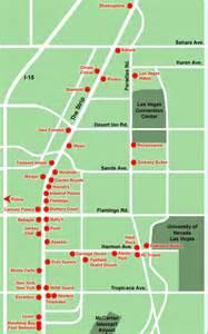 Strip Las Vegas Map by Map Of Las Vegas Strip Free Printable Maps
