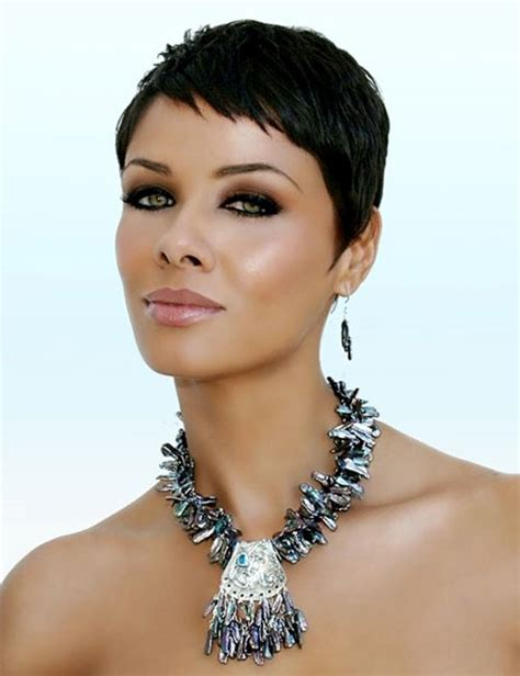 soft feminine hairstyle short bob style with short crop short feminine close cropped haircut for black women