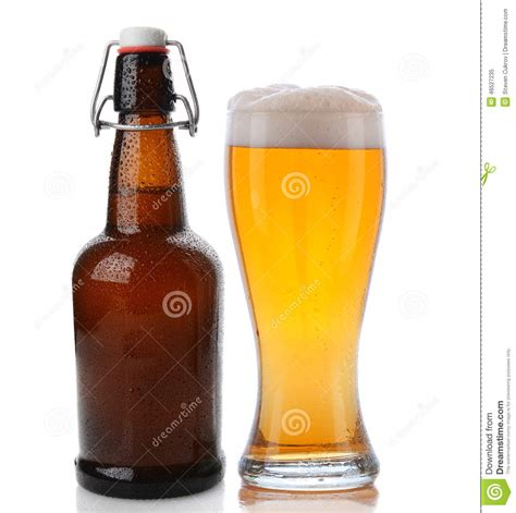 swing top beer glass and swing top beer bottle stock photo image 46527235