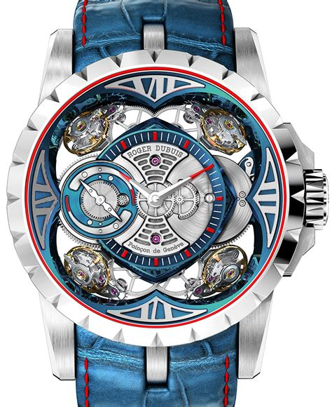 Roger Dubuis Excalibur Traveltime Tag Heuer Hublot Tissot 2 roger dubuis excalibur quatuor cobalt micromelt high quality cheap replica high quality