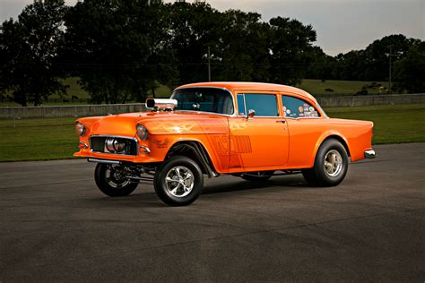 Sale Wheels 55 Chevy Bel Air Gasser Orange Mtf36 a 10 second 1955 chevy gasser is as cool as