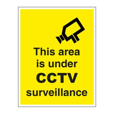 this area is under cctv surveillance buy safety sign